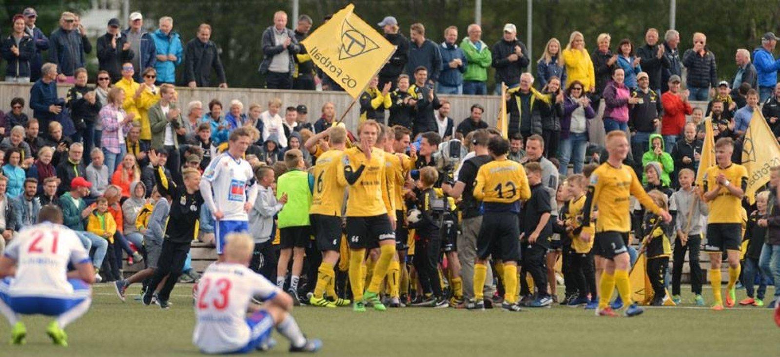 I 2017 blei det målfest på Kuventræ! Os kunne juble for 4-3 siger etter fire skåringar av Christoffer Hafsås (Foto: Hordalandsfotball).